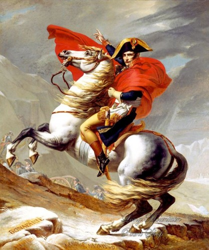 Napoleón cruzando los Alpes, de Jacques-Louis David. Foto: Wikipedia