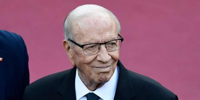 El presidente tunecino Beji Caid Essebsi, en la cumbre del G-7 en Taormina, Italia, 26 de mayo de 2017. MIGUEL MEDINA / AFP